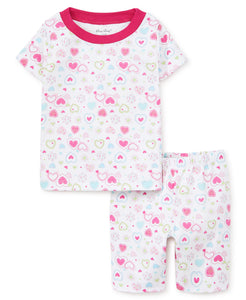Pj's Happy Hearts Short Pajama Set