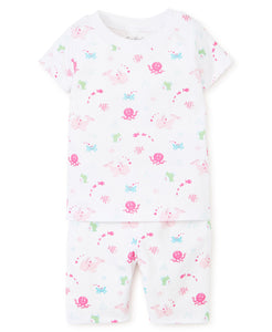 Under the Sea Short Pajama Set Fuchsia