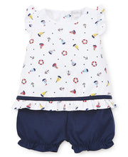 Load image into Gallery viewer, Summer Sails Sunsuit Set