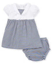 Load image into Gallery viewer, Summer Sails Stripe Dress Set