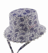 Load image into Gallery viewer, Baby Girls Bucket Hat - Kaya Blue