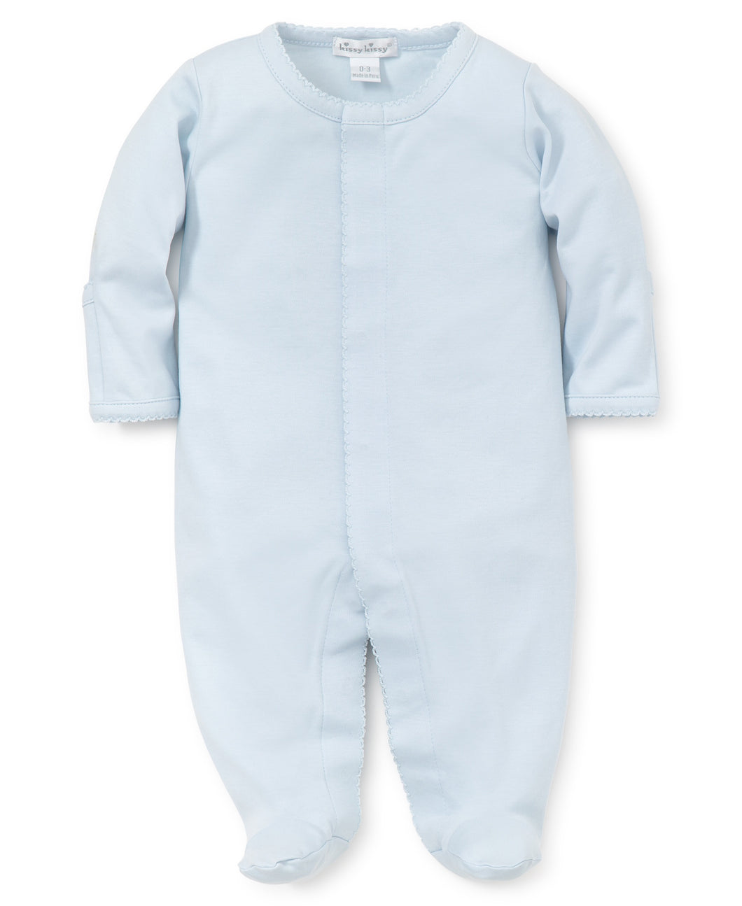 Kissy Kissy Basics Footie New - light blue/light blue