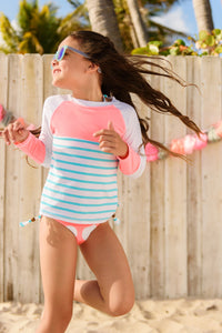 Candy Mint Stripe Arms Round