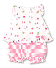 Load image into Gallery viewer, Berry Ballet Sunsuit Set Mix - Fuchsia Print