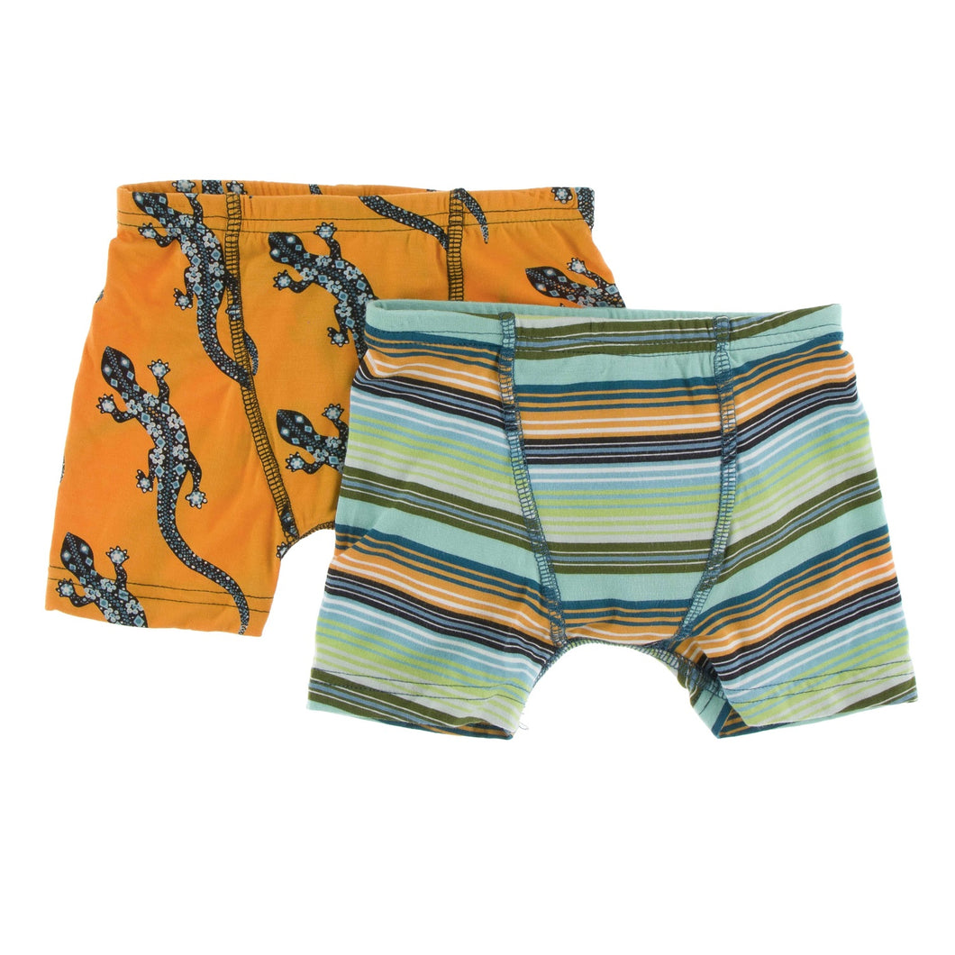 Boxer Briefs Set–Apricot Bead Lizard and Cancun Glass Stripe