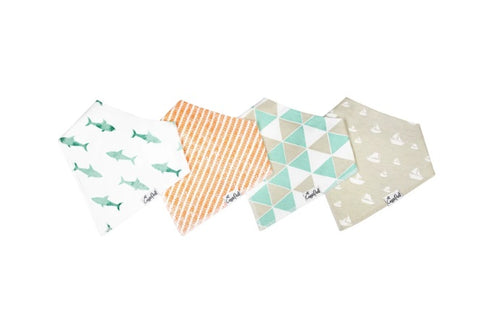 Pacific Baby Bandana Bib Set (4-pack)