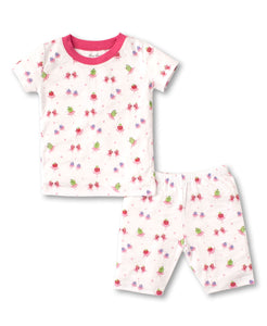 Berry Ballet Short PJ Set Snug - Fuchsia Print