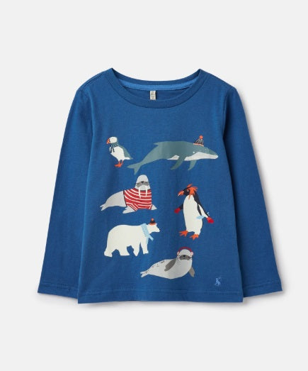 Raymond Glow in the Dark T-Shirt - Blue Antartic Animals