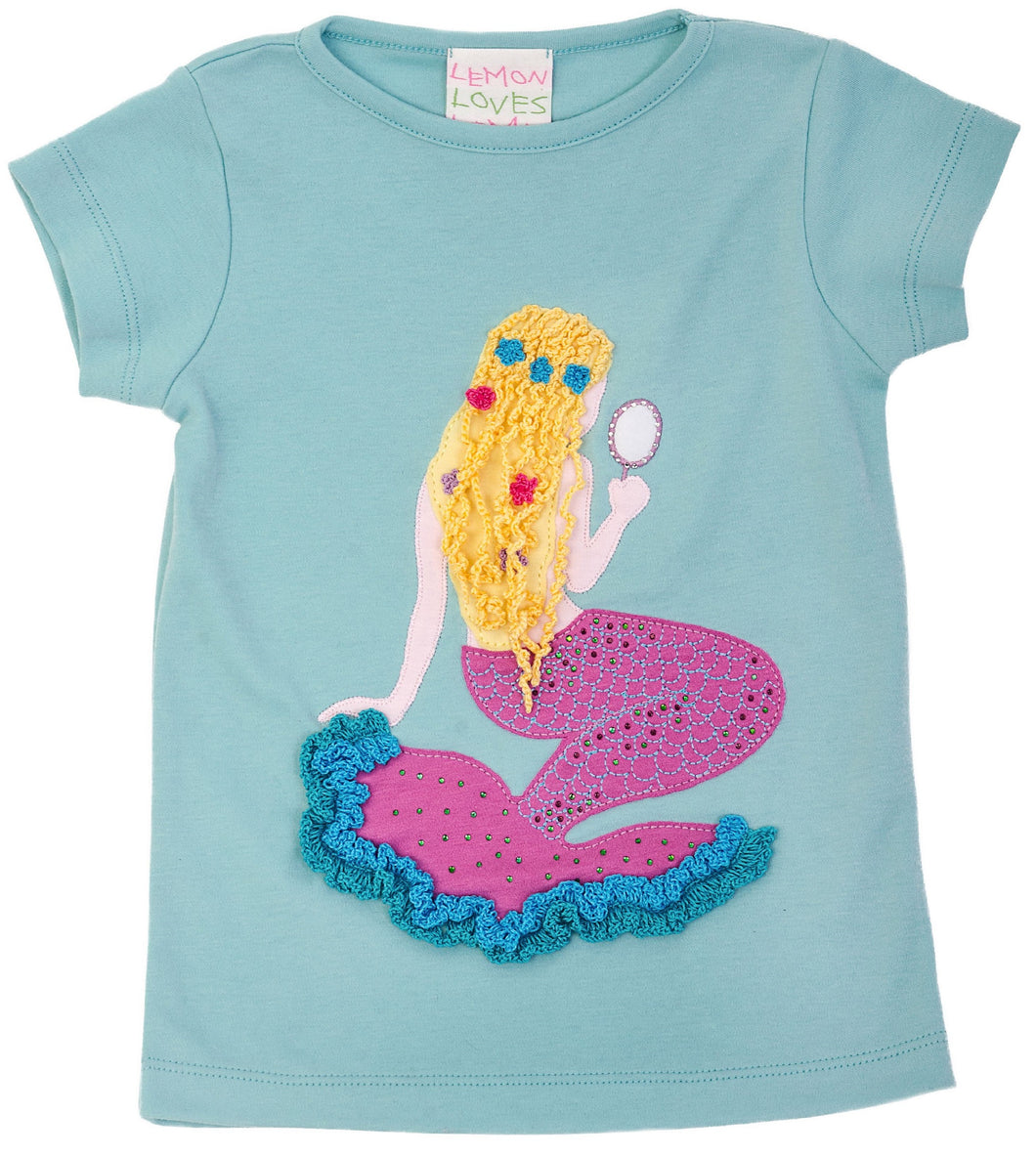 Mermaid's Beauty Tee Pastel Turquoise