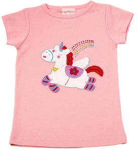 Unicorn Power Tee Rose Shadow