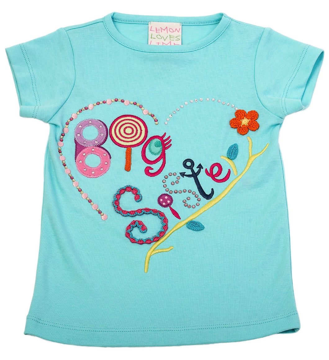 Big Sister Tee Aruba Blue