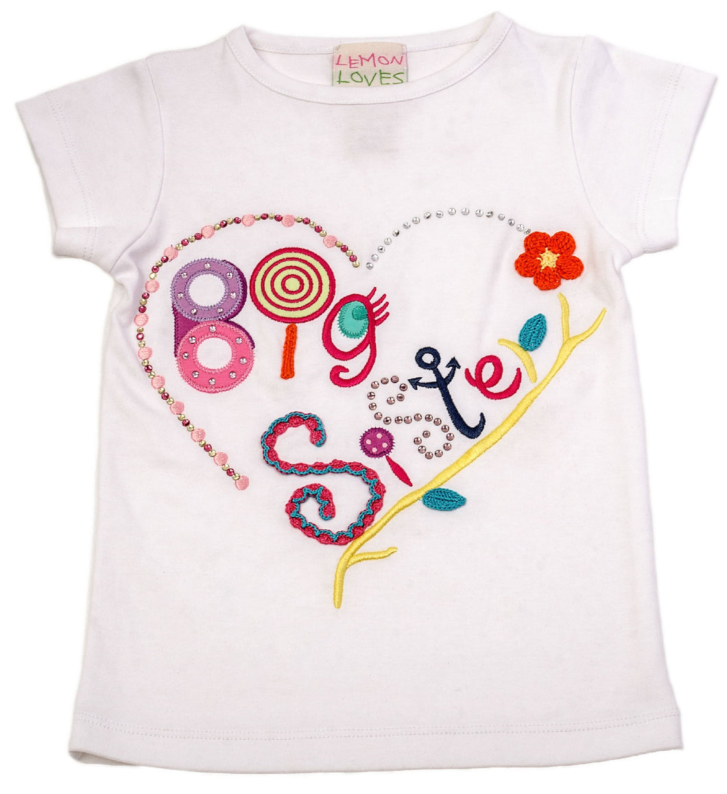 Big Sister Tee Aruba White