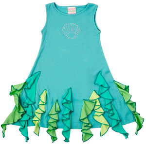 Under the Sea Dress Pastel Turquoise