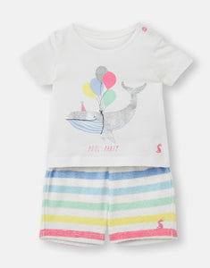 Sandbury Towelling Outfit Set - White Party Whale