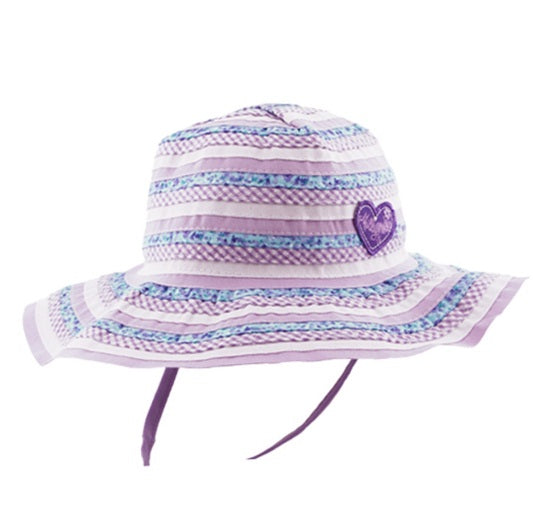 Baby Girls Floppy Hat - Sweetheart Lilac