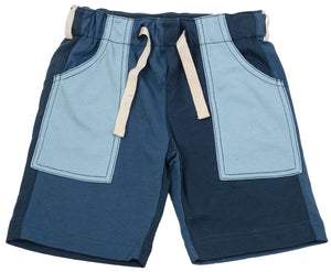 Patch Cargo Shorts Denim Blues