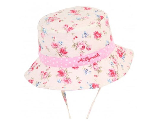 Baby Girls Bucket Hat - Vintage Floral