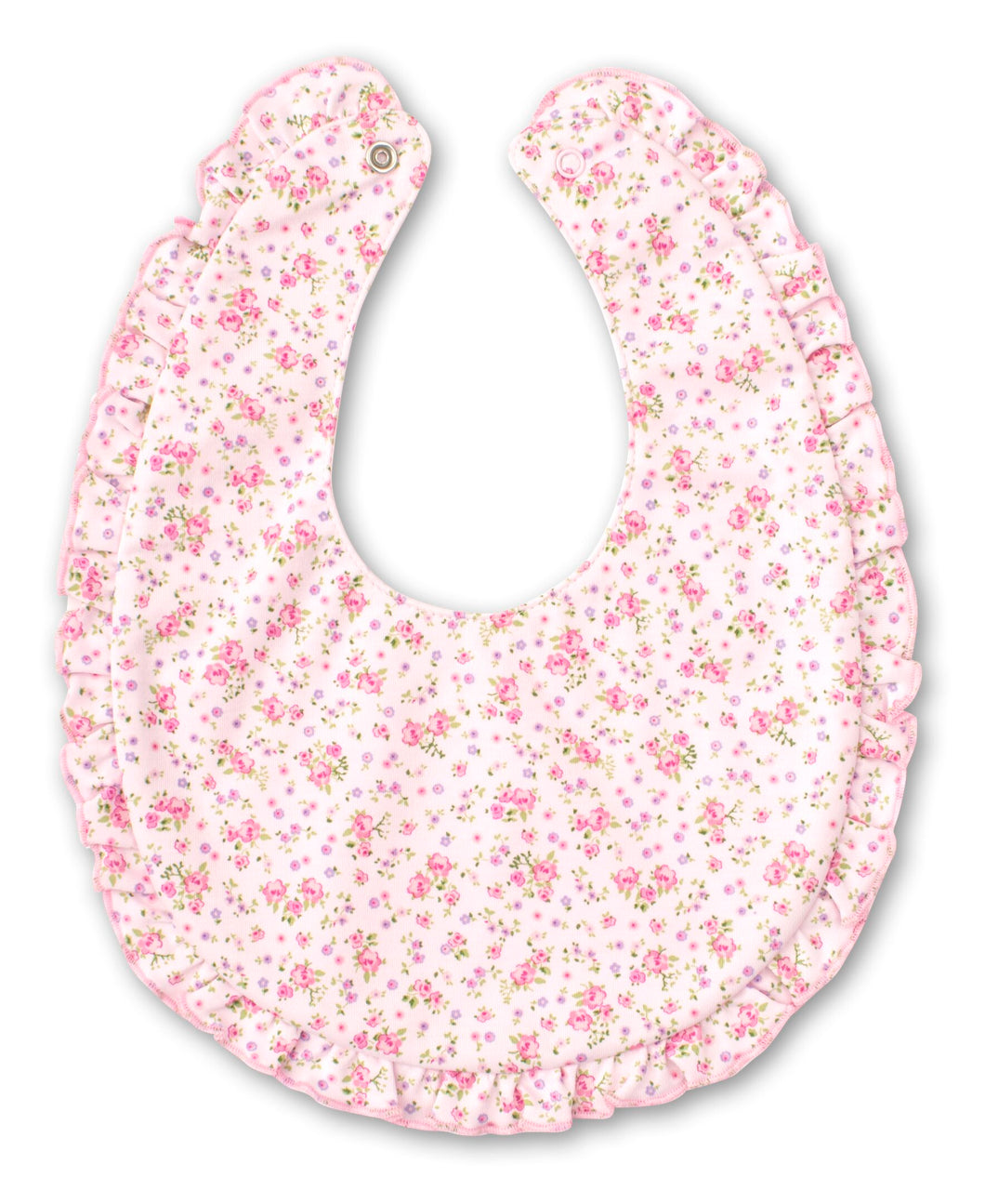 Dusty Rose Bib - Pink Print