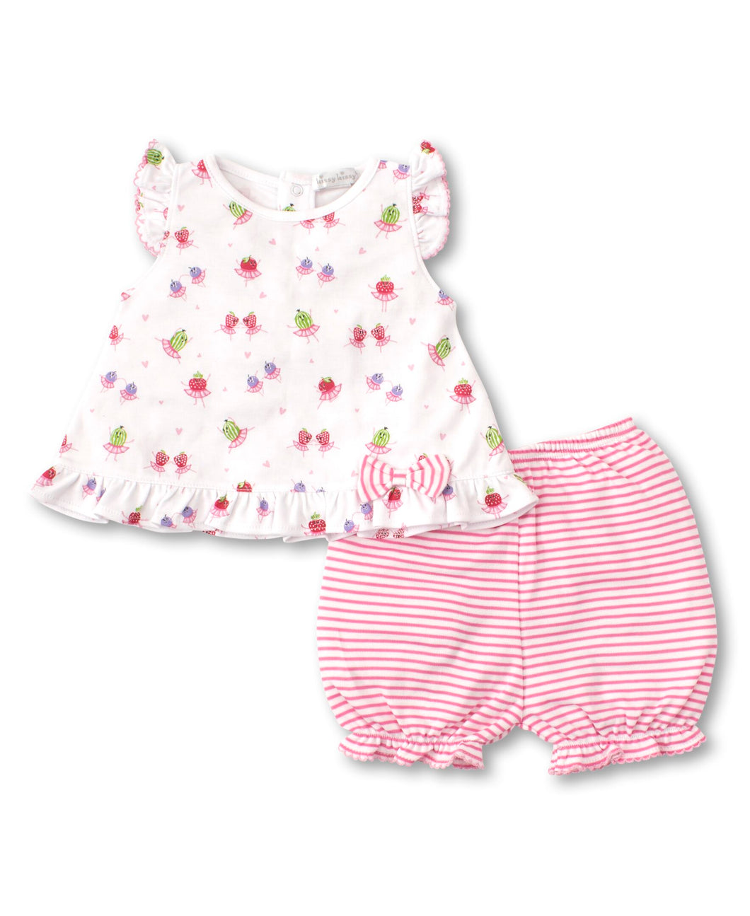 Berry Ballet Sunsuit Set Mix - Fuchsia Print