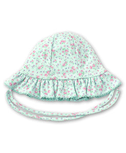 Dusty Rose Floppy Hat - Mint Print