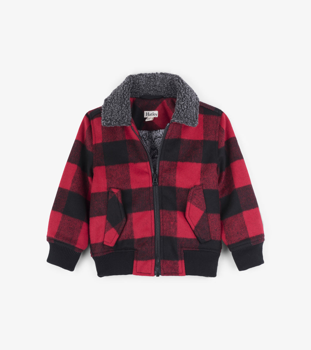 Buffalo Plaid Bomber Jacket
