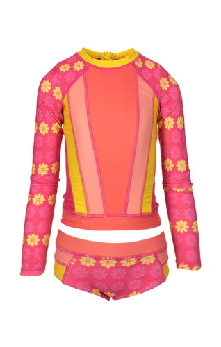 Solana Rash Guard Set - Sunshine Daisy