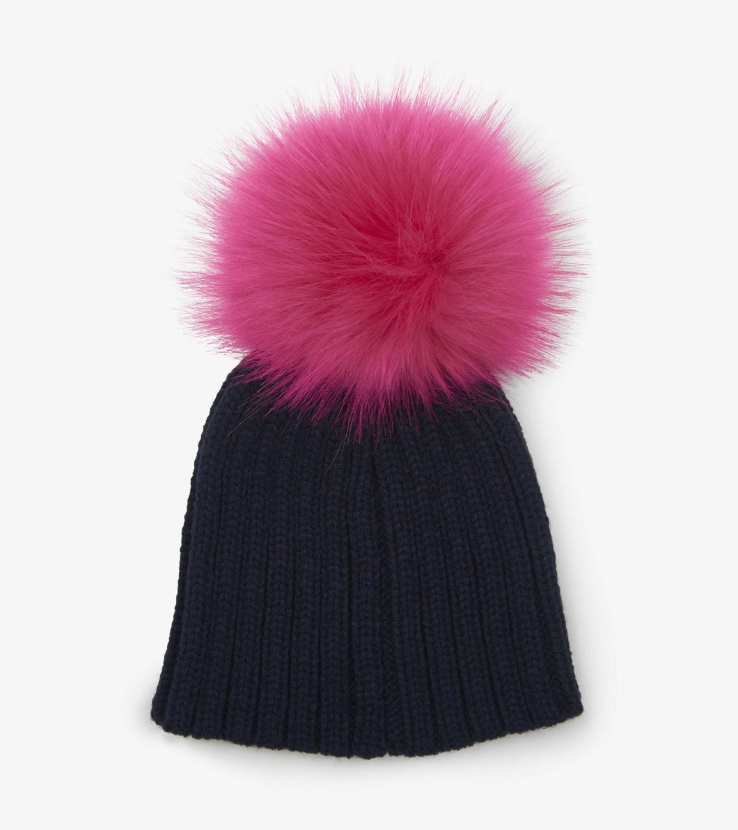 Pink Pom Pom Winter Hat