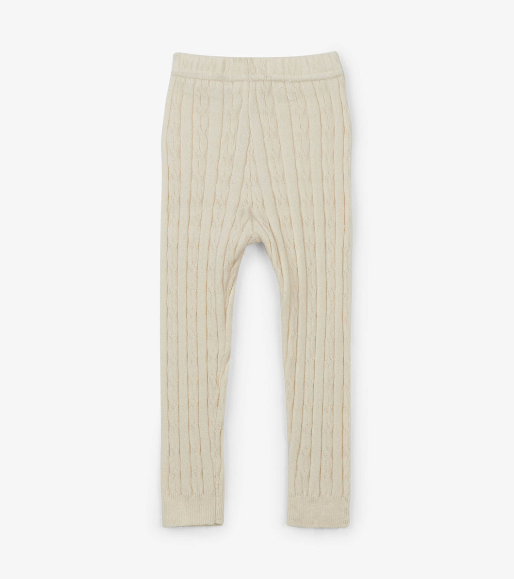 Cream Cable Knit Baby Leggings
