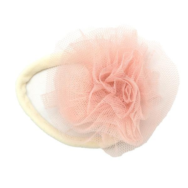 oh baby! Frill Flower Apricot Nylon Headband - Cream