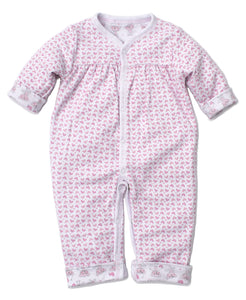Monkey Moves Reversible Playsuit - Pink