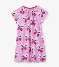 Load image into Gallery viewer, Decorative Butterflies Tee Shirt Dress