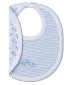 Baby Trunks Reveersible Bib - Light Blue