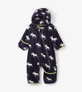 Moose Silhouettes Fuzzy Fleece Baby Bundler
