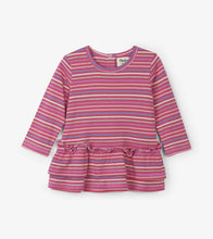 Load image into Gallery viewer, Rainbow Candy Stripe Baby Layered Dress