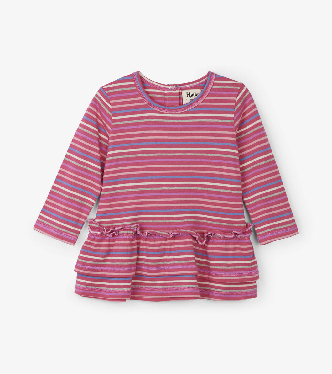 Rainbow Candy Stripe Baby Layered Dress