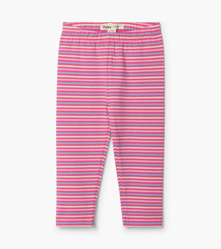 Rose Stripes Baby Leggings - Rose Violet