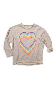 Slouchy Sweatshirt - Love Rainbow