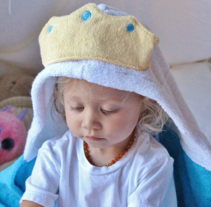 Blue Princess Hooded Towel