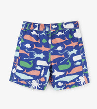 Load image into Gallery viewer, Sea Creatures Swim Trunks