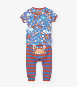 Ocean Friends Organic Cotton Baby Pajama Set