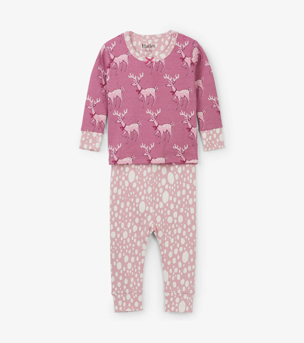 Darling Deer Organic Cotton Baby Pajama Set