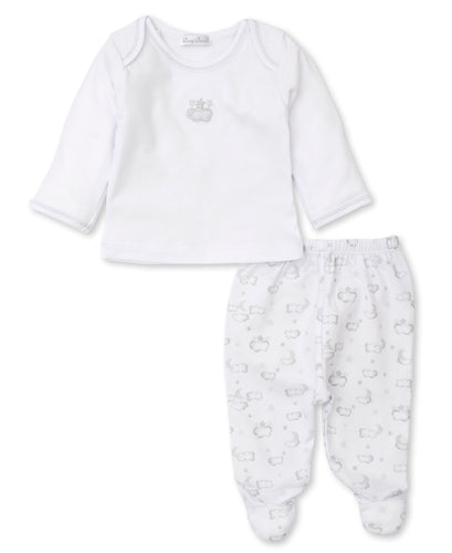 Twilight Twinkles Footed Pant Set Mix - Silver