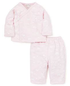 Cotton Clouds Pants Set in Pink