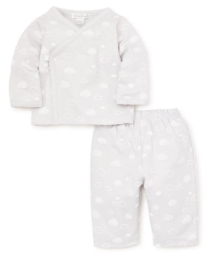 Cotton Clouds Pants Set in Silver