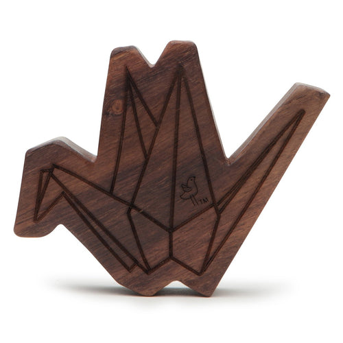 Crane Wooden Rattle Teether