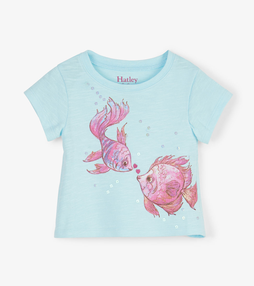 Kissing Fishies Baby Tee