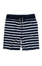 Load image into Gallery viewer, Camp Shorts - Navy Stripe