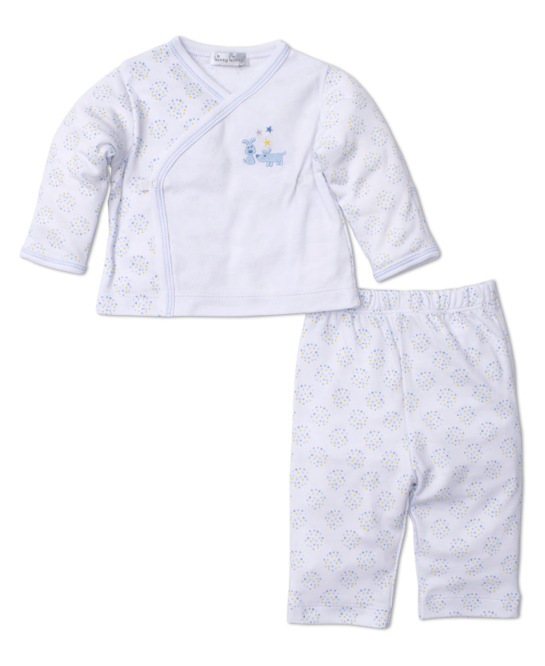 Pups in a Row Pant Set Mix - Light Blue
