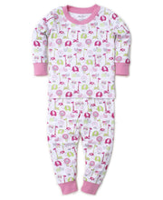 Load image into Gallery viewer, Jazzy Jungle Pajama Set Snug Pink
