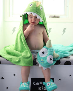 Dino Hooded Towel